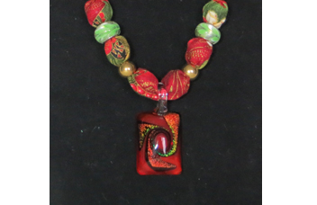 Christmas Necklace with Pendant closeup