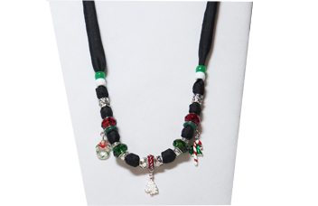 Christmas Necklace with Charms
