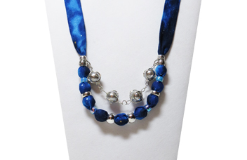 Christmas Necklace - blue