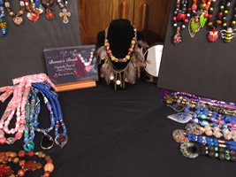 Image of Bonnie's necklaces on display