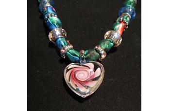 Close up for necklace Heart-480