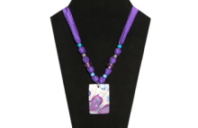 Purple Necklace with shell Pendant